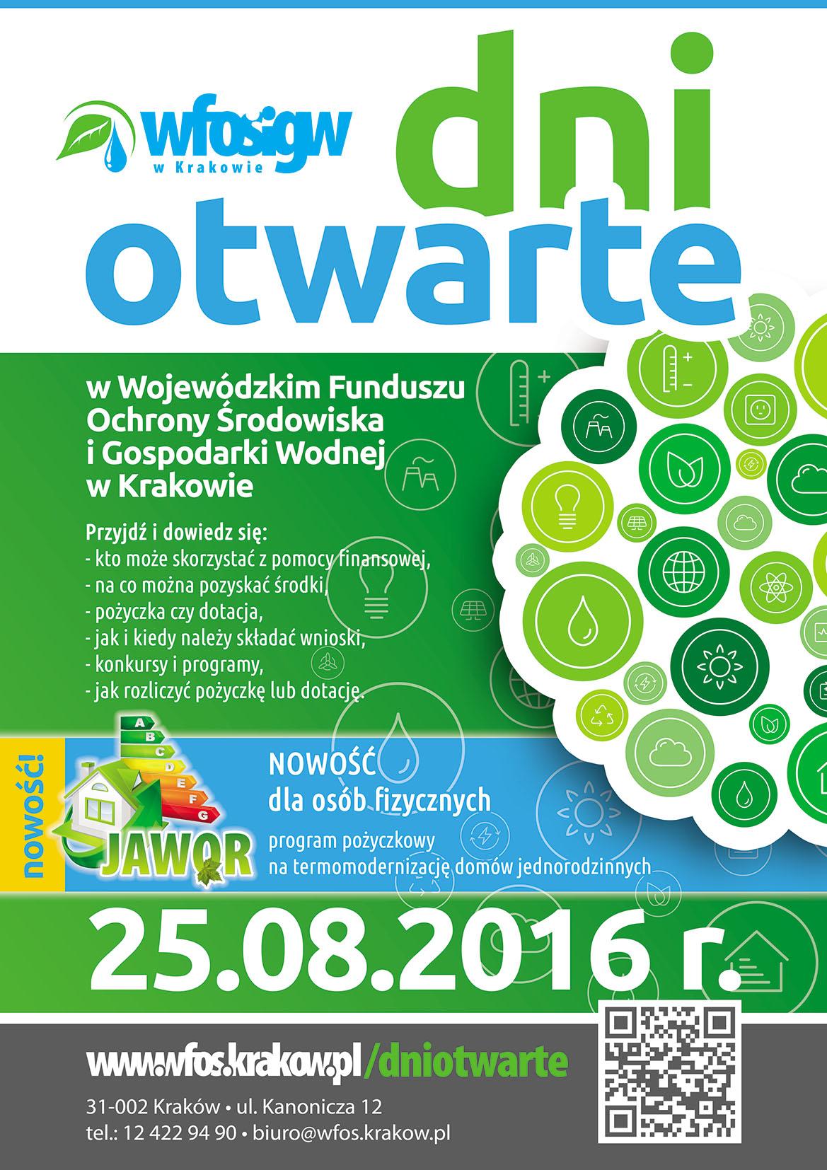 Dzień Otwarty w WFOŚiGW w Krakowie – 25 sierpnia 2016 r.