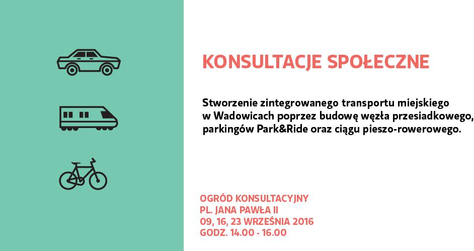 Konsultacje społeczne – Park and Ride w Wadowicach