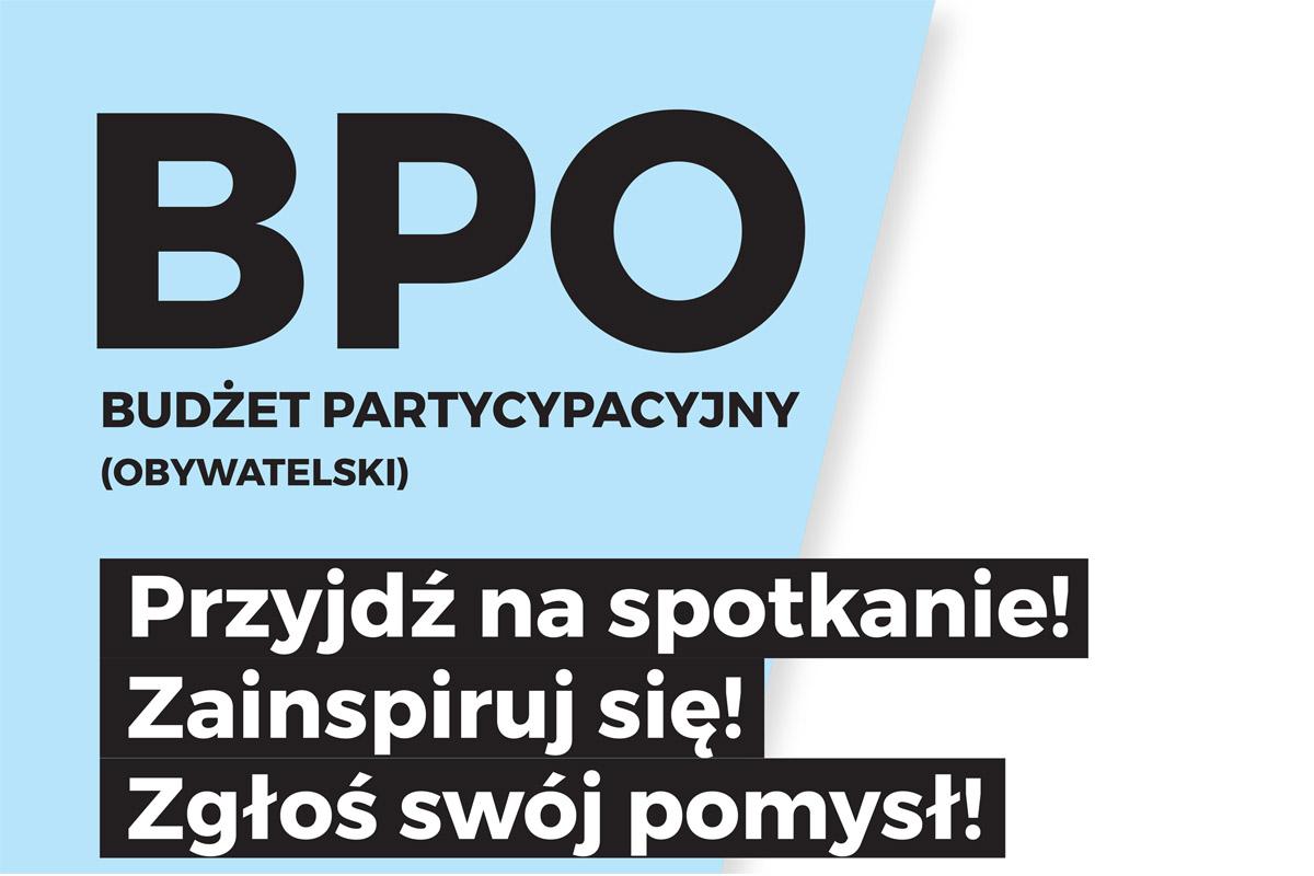 Zapraszamy na spotkania dotyczące Budżetu Partycypacyjnego
