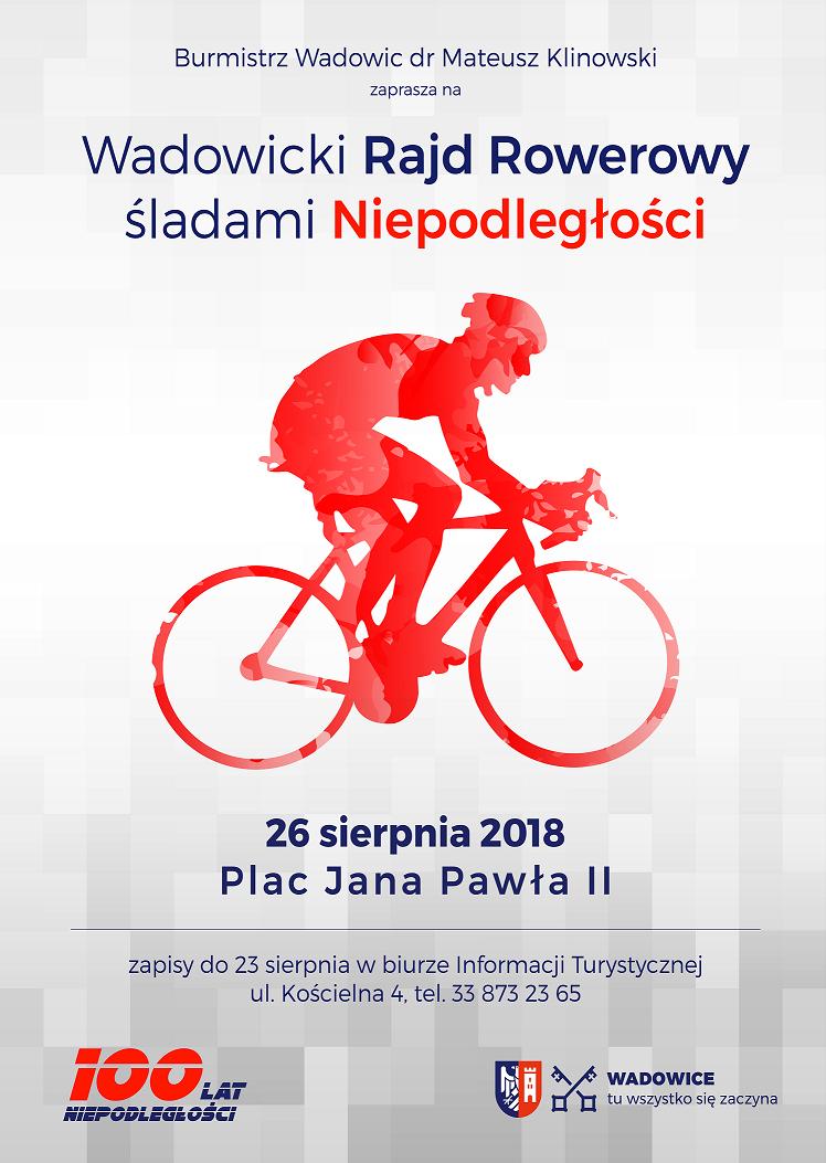 Rodzinny Rajd Rowerowy śladami Niepodległości – 26 sierpnia 2018