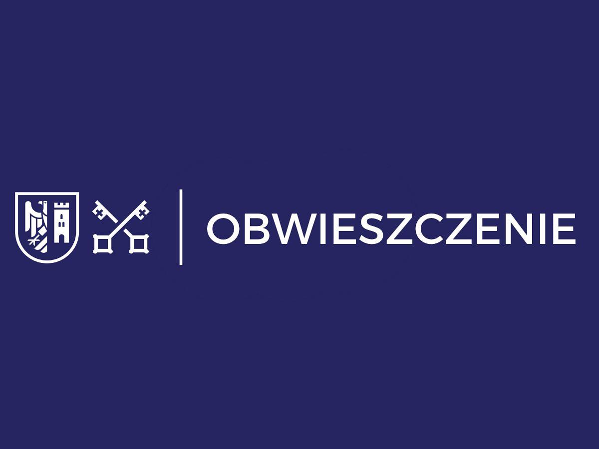 Obwieszczenie Burmistrza Wadowic