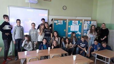 """""""Herbatka z Erasmusem"""" w Szkole Podstawowej nr 2"""