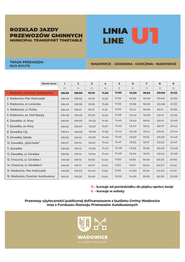 Linia U1 poprawiona 21.01.2020 01 724x1024 - Komunikacja zbiorowa