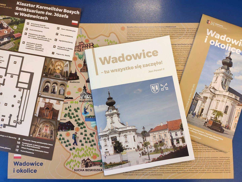 Nowe wydawnictwa Informacji Turystycznej w Wadowicach