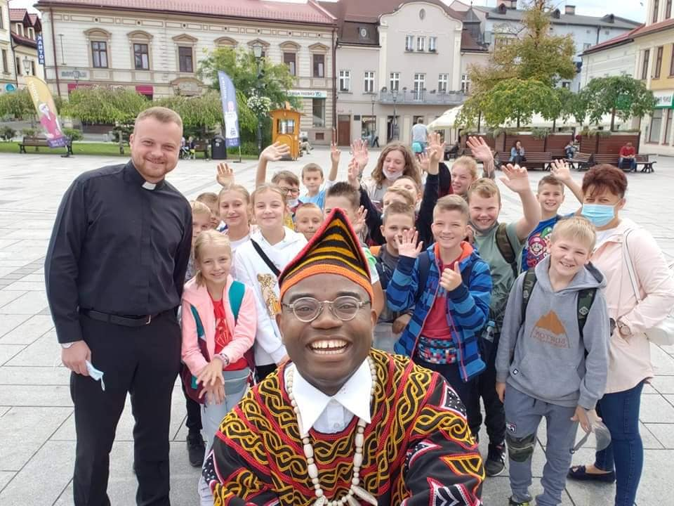 O wizycie w Wadowicach okiem pielgrzyma z Kamerunu