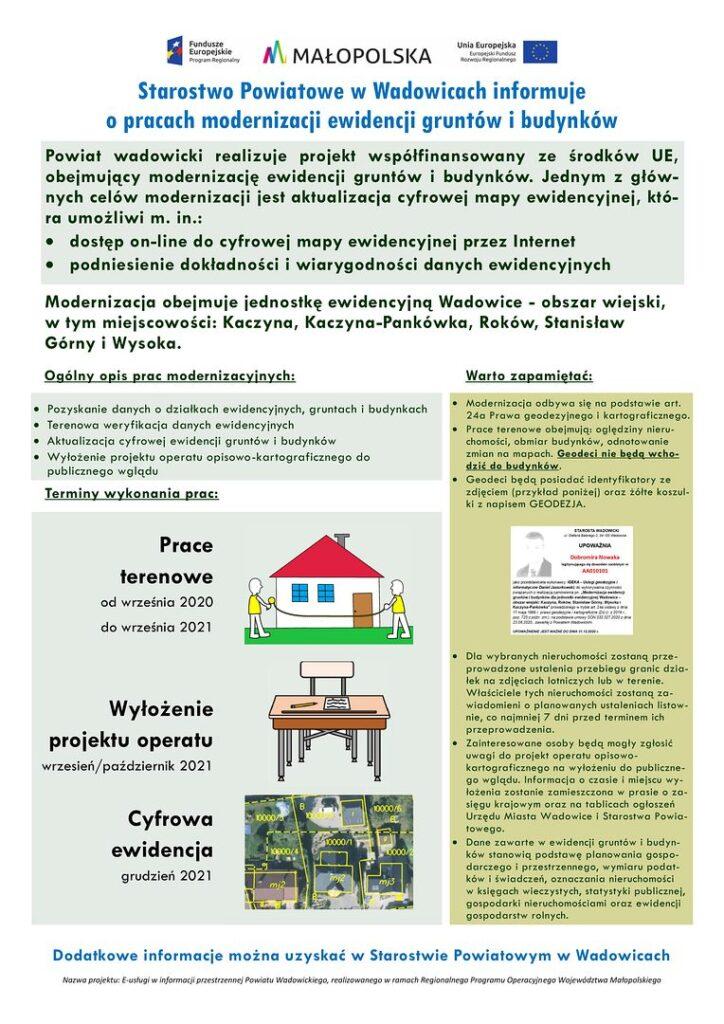 ogłoszenie 1 724x1024 - Modernizacja ewidencji gruntów i budynków