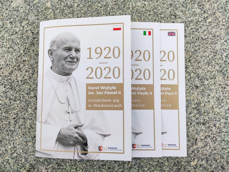 Nowe wydawnictwo Gminy Wadowice z okazji 100. rocznicy urodzin św. Jana Pawła II.