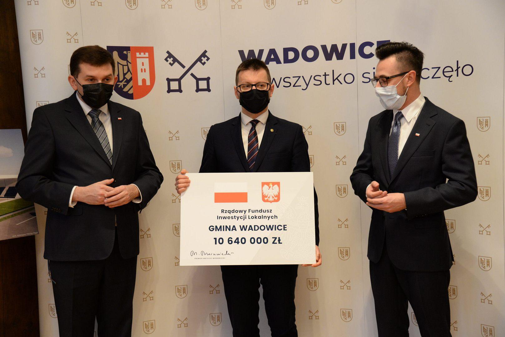 Ponad 10 milionów dla Wadowic na inwestycje!