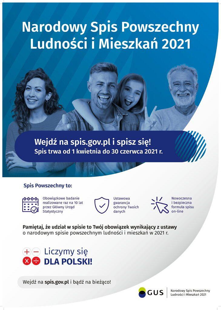 GUS Plakat B2 1 730x1024 - Narodowy Spis Powszechny 2021