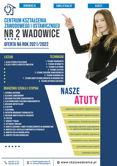 Oferta edukacyjna CKZiU Nr 2 w Wadowicach