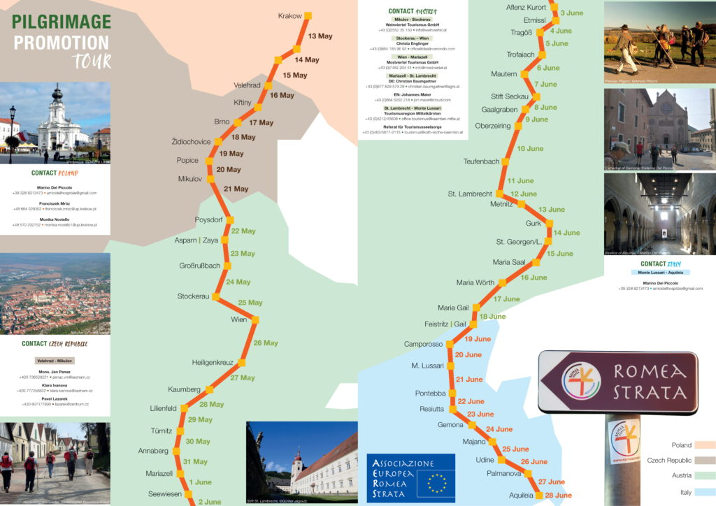 Pieghevole Pilgrimage Tour 2021 divisoA3 2 1024x724 - Pielgrzymi na Drodze Rzymskiej dotrą do Wadowic