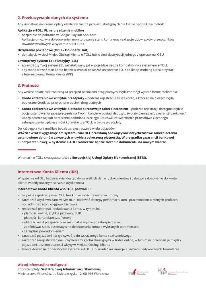eTOLL ulotka A4 PL 2 724x1024 - Nowy system poboru opłaty drogowej e-TOLL