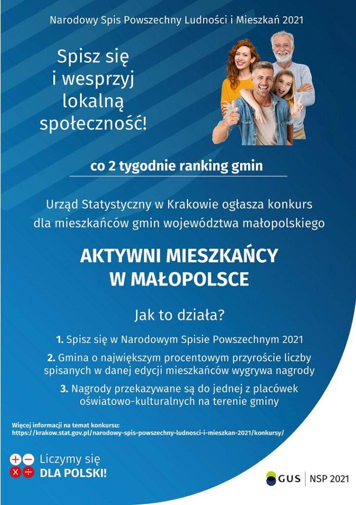 plakat aktywni mieszkancy w malopolsce 1 722x1024 - Aktywni mieszkańcy w Małopolsce