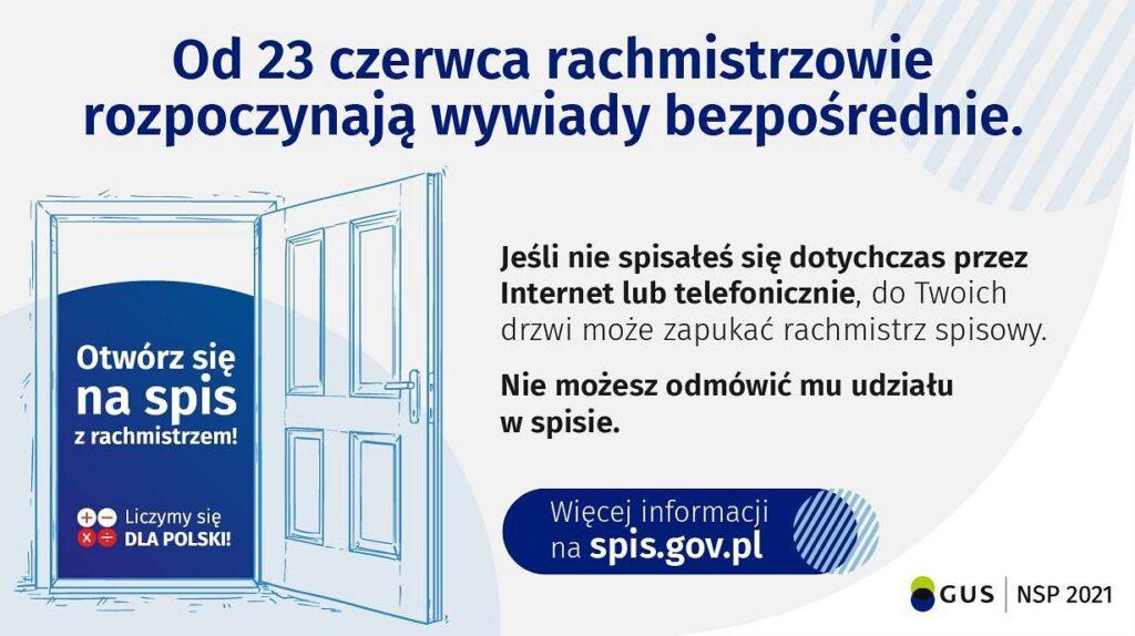 23 GUS 1024x574 - Ważna informacja dotycząca Narodowego Spisu Powszechnego!
