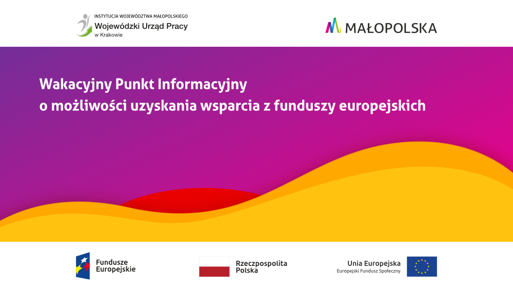 baneros2 - Wakacyjny Punkt Informacyjny o możliwości uzyskania wsparcia z funduszy europejskich
