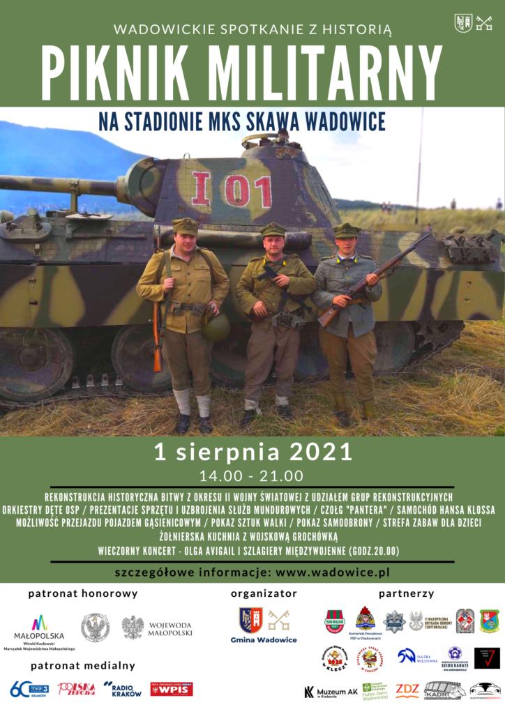 """plakat piknik 724x1024 - Zapraszamy na wielki Piknik Militarny - Wadowickie spotkanie z historią"""""""