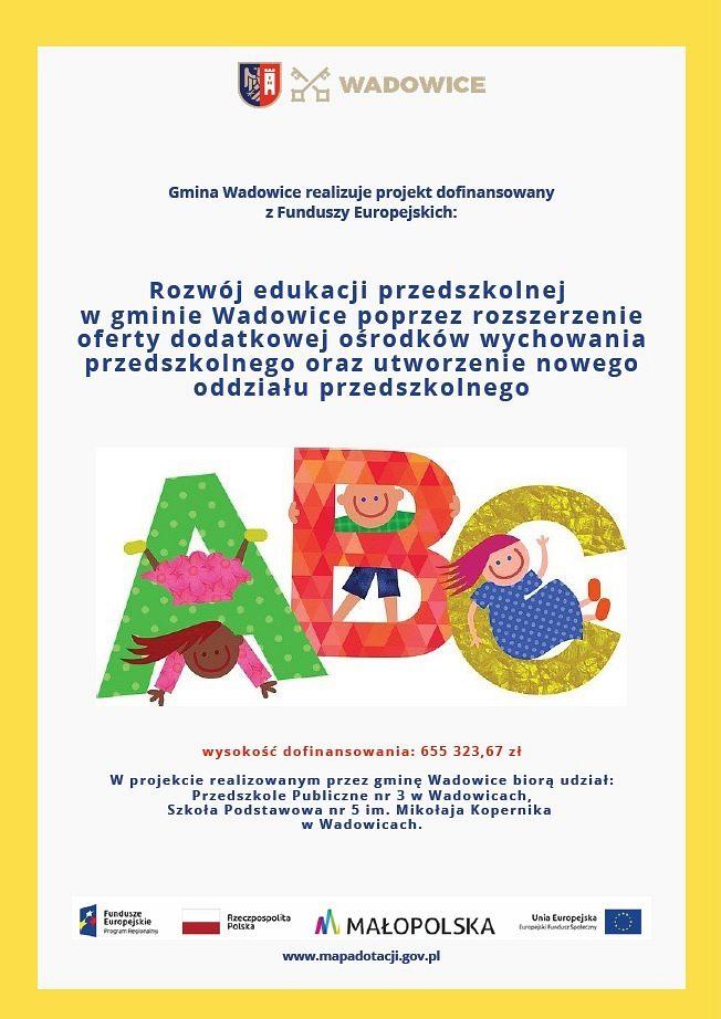 Trwa rekrutacja w projekcie dla dzieci z oddziałów przedszkolnych