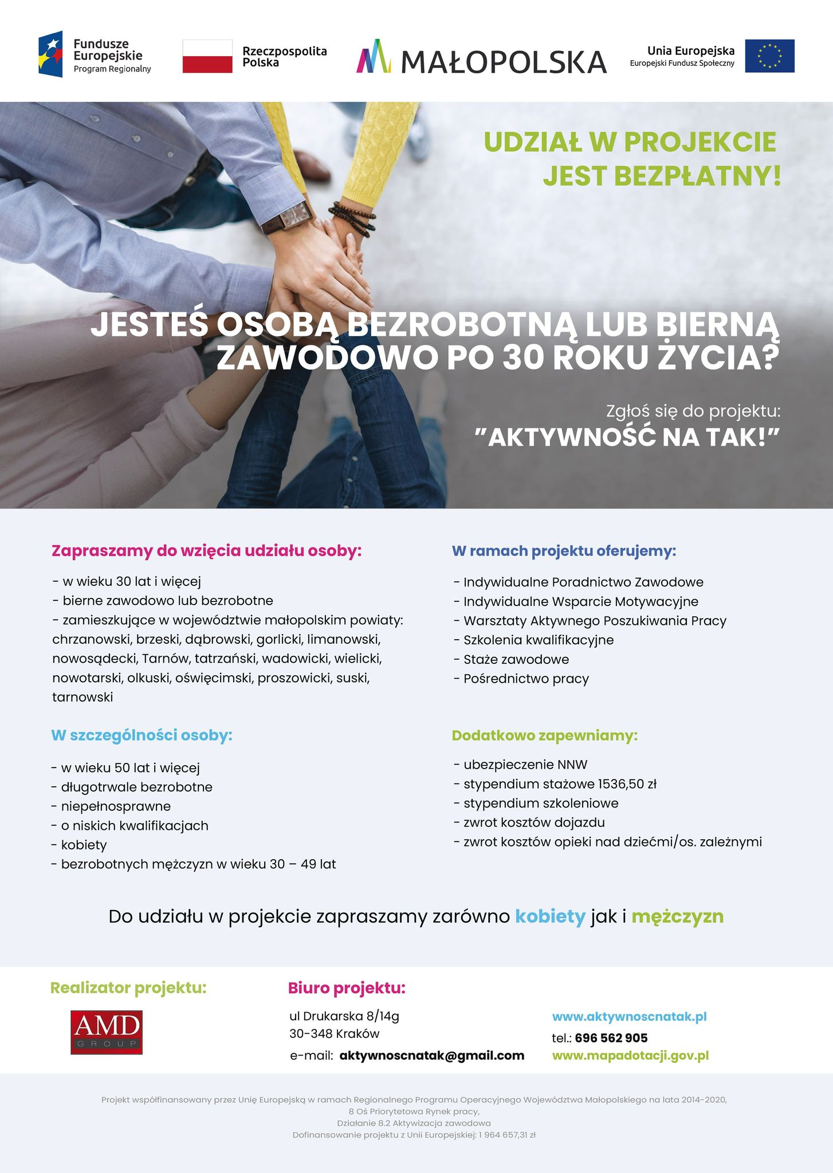 Aktywność na TAK! Szansa dla mieszkańców miasta i gminy Wadowice