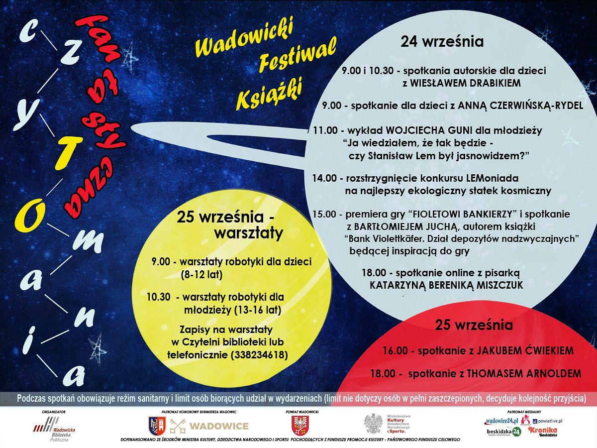 """""""Fantastyczna czyTOmania"""" – IV edycja Wadowickiego Festiwalu Książki"""