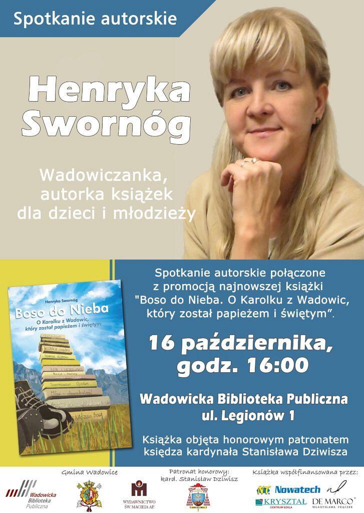 243328975 394414765655934 2122526205010844464 n 727x1024 - Spotkanie z Henryką Swornóg